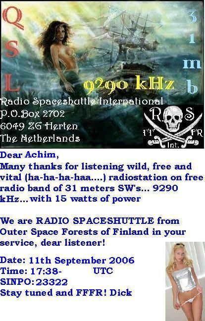 Radio Spaceshuttle QSL